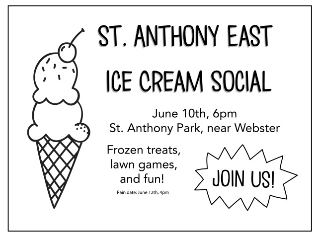 ice cream social copy