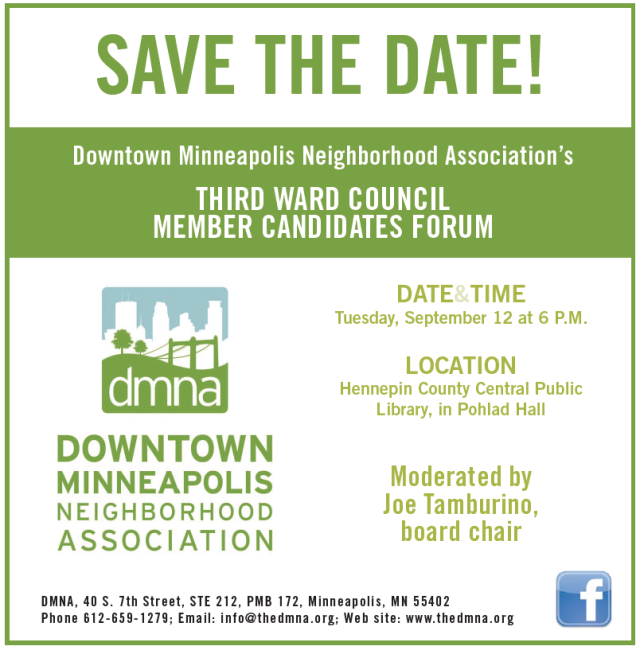 DMNA Third Ward City Council Member Candidates Forum on September 12